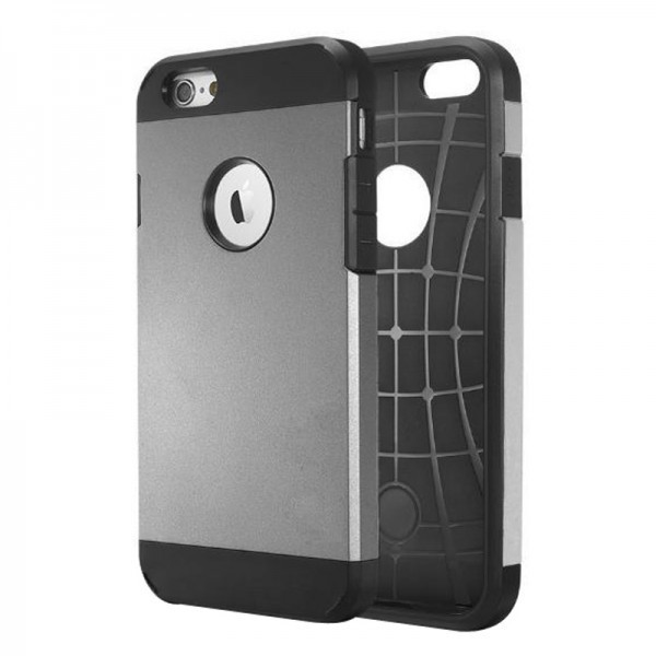 Calitron iPhone 6 Hybrid Cover Case  Grau Schwarz