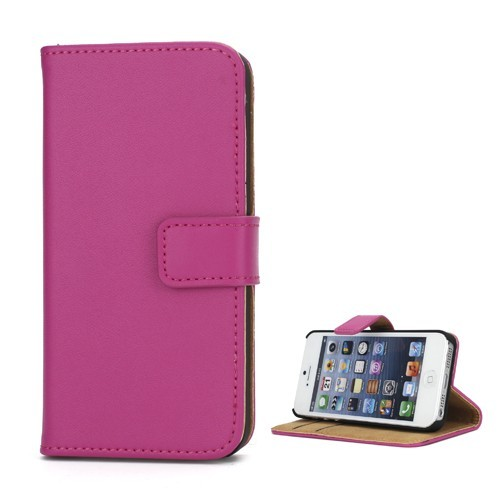 calitron iphone 5 echt leder etui case pink schutzh lle. Black Bedroom Furniture Sets. Home Design Ideas