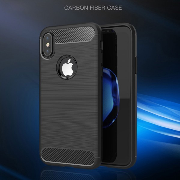 iPhone X  Backcover Carbon Fiber Schwarz
