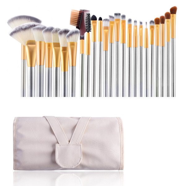 VANDER Make Up mit Pinselset 24 Pinsel Etui in Champagne Gold