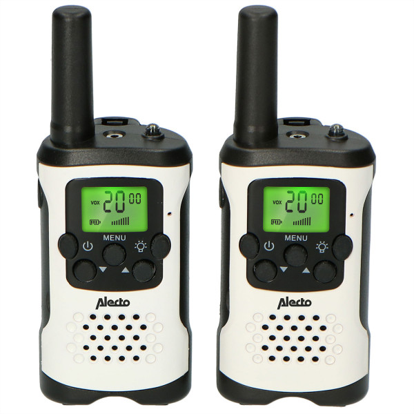 ALECTO Walkie Talkie FR-175 weiss/schwarz, 7km, 2.5h, 8 Sender, Display, SOS