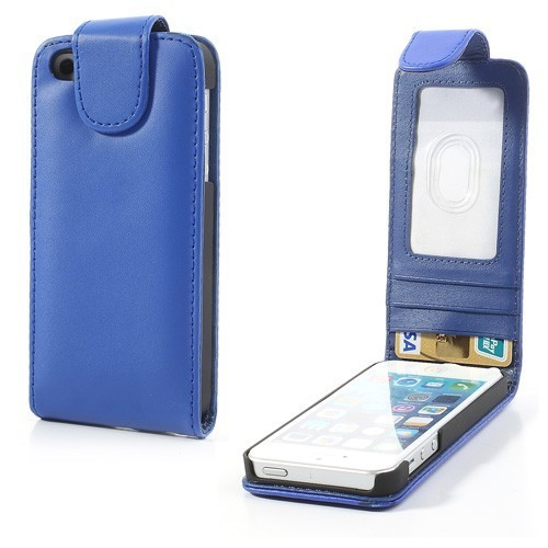 Calitron iPhone 5 Hülle Lederetui Case dunkelblau