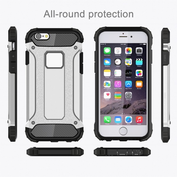 Calitron iPhone 6 Plus, 6S Plus Hybrid Cover Schock Case Silber