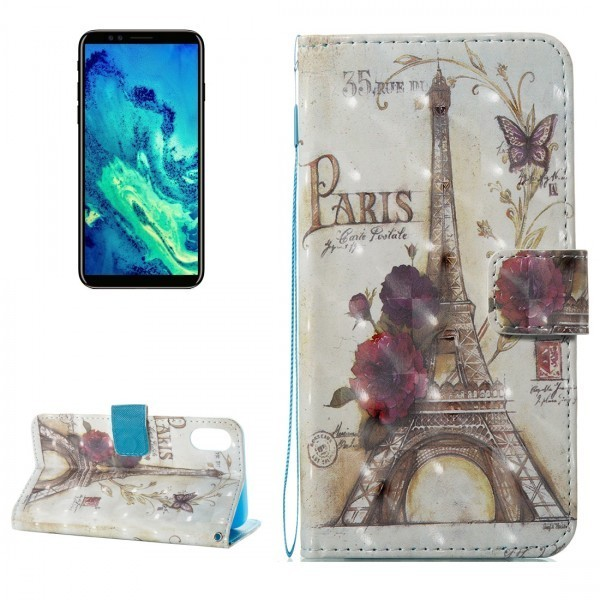 Calitron iPhone X Leder Etui Paris Eiffelturm