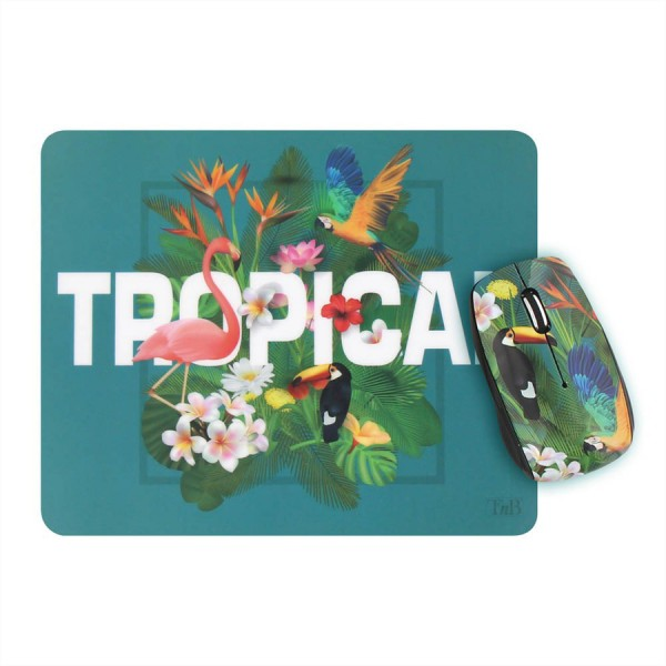 T'nB TROPICAL Design Bundle wireless Maus + Mausmatte